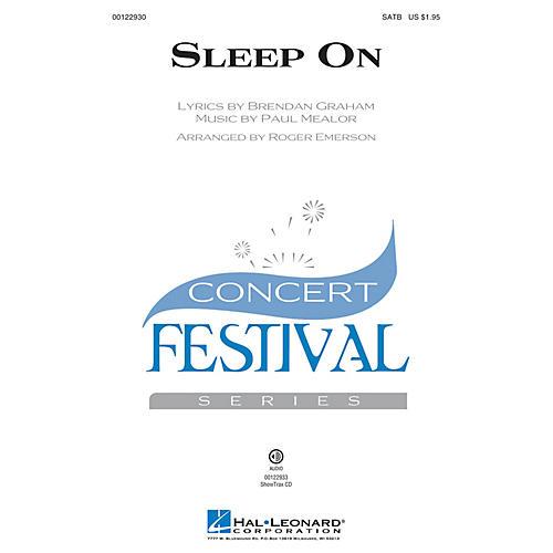Hal Leonard Sleep On SATB by Hayley Westenra arranged by Roger Emerson