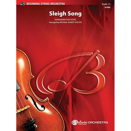 Alfred Sleigh Song String Orchestra Grade 1.5