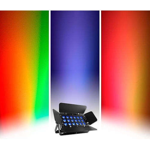 CHAUVET DJ SlimBANK T18 USB Tri-Color LED Wash/Effect Light with Adjustable Barn Doors-thumbnail