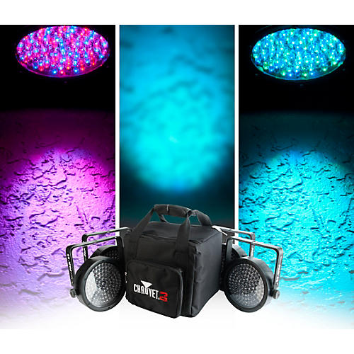 CHAUVET DJ SlimPACK 56 LT - 4 SlimPAR 56 Wash Lights and 3 DMX Cables with CHS-SP4 VIP Gear Bag