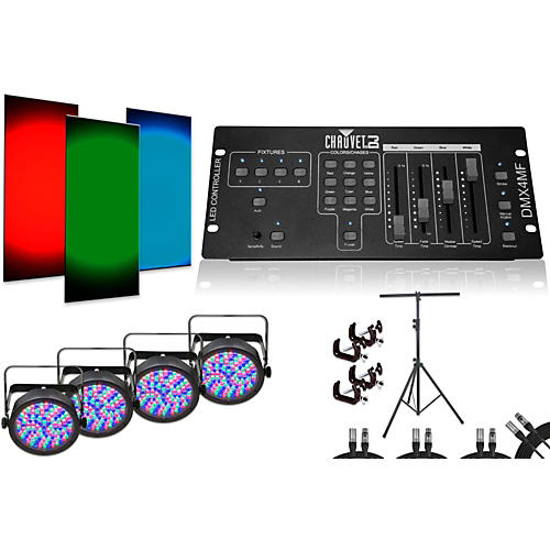 CHAUVET DJ SlimPAR 56 DMX4MF 4 Light System-thumbnail