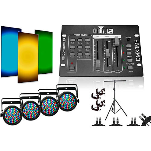 CHAUVET DJ SlimPar 38 DMX3MF 4 Light System