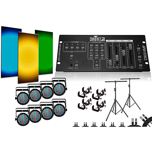 Chauvet SlimPar 38 DMX4MF 8 Light System