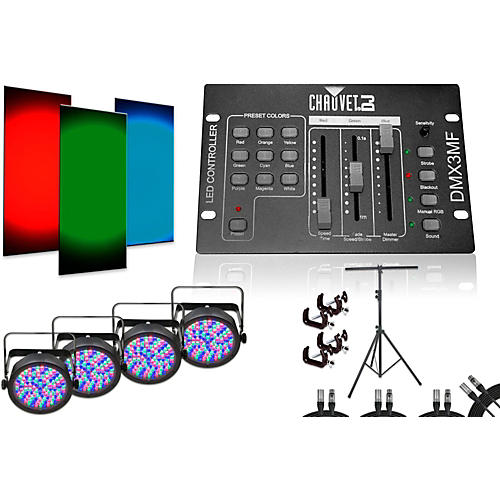 CHAUVET DJ SlimPar 56 DMX3MF 4 Light System