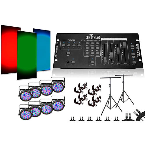 CHAUVET DJ SlimPar 56 DMX4MF 8 Light System