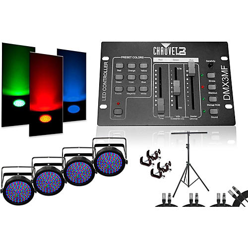Chauvet SlimPar 64 DMX3MF 4 Light System