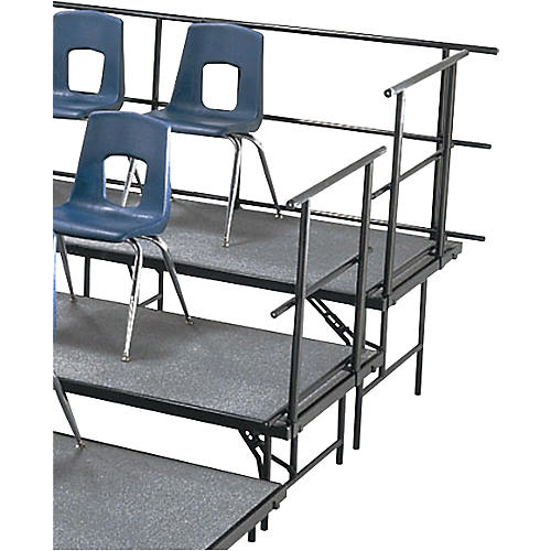 Midwest Folding Products Sloping Guard Rails for Standing Choral Risers 4 Level