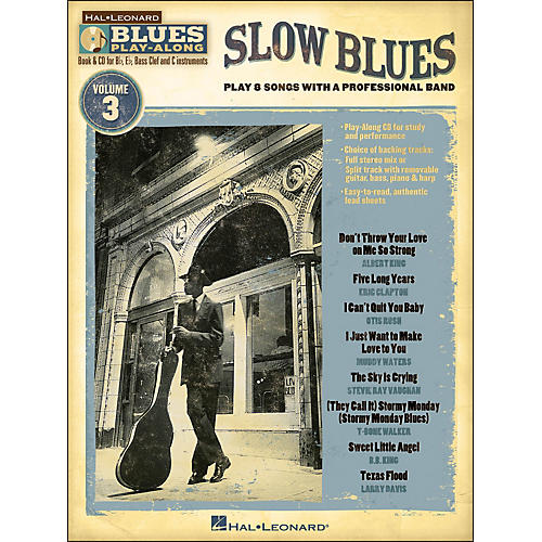 Hal Leonard Slow Blues - Blues Play-Along Volume 3 (Book/CD)-thumbnail