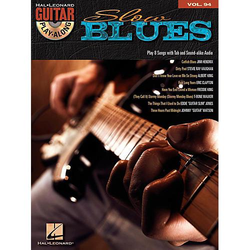 Hal Leonard Slow Blues - Guitar Play-Along Volume 94 (Book/CD)-thumbnail