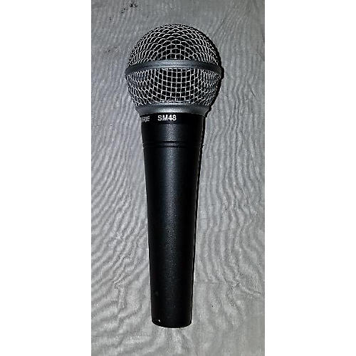 used shure sm48 dynamic microphone guitar center. Black Bedroom Furniture Sets. Home Design Ideas