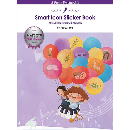 Hal Leonard Smart Icon Sticker Book Educational Piano Library Series Softcover Written by Joy J. Song