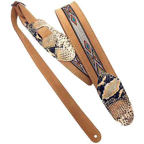LM Products Snake Embossed and Suede Guitar Strap