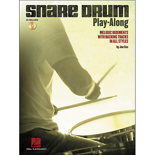Hal Leonard Snare Drum Play-Along - Melodic Rudiments with Backing Tracks In All Styles (Book/CD)-thumbnail