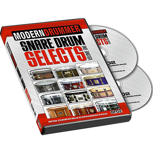 Modern Drummer Snare Drum Selects, Volume 1 for BFD2