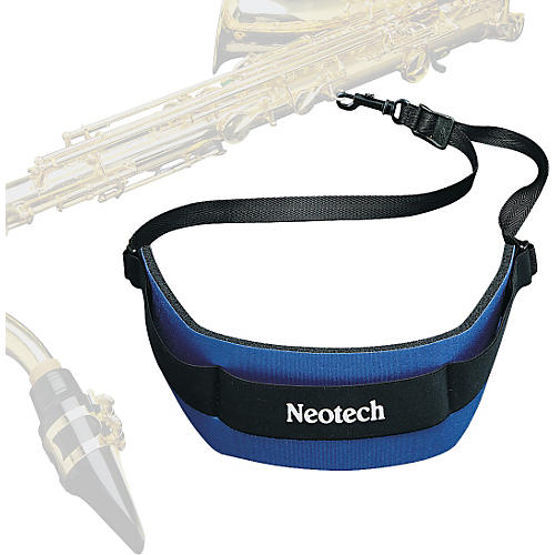 Neotech Soft Sax Strap Navy Regular, Swivel Hook
