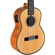 Solid Spruce/Okume 8-String Tenor Acoustic-Electric Ukulele