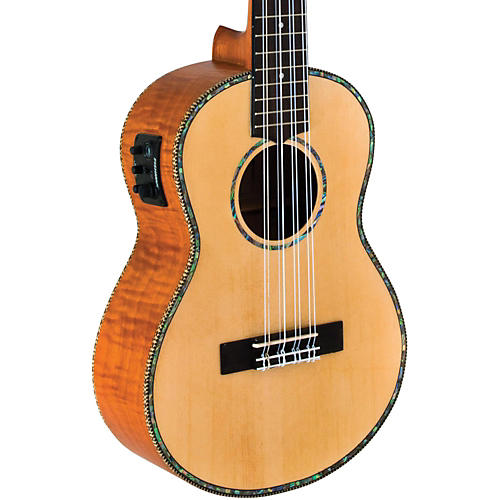 Lanikai Solid Spruce/Okume 8-String Tenor Acoustic-Electric Ukulele-thumbnail