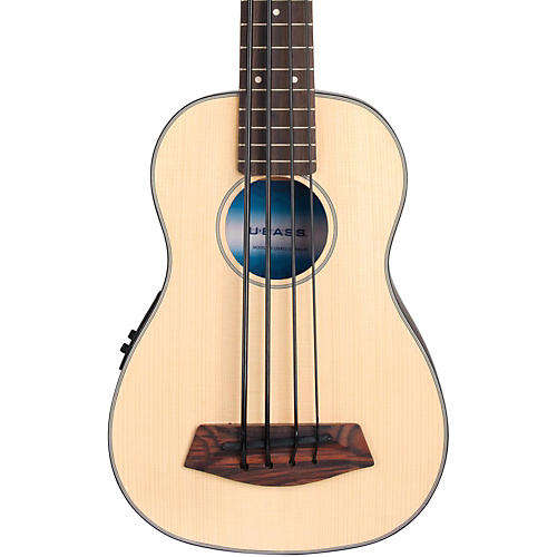 Kala Solid Top Acoustic Electric U-BASS Natural