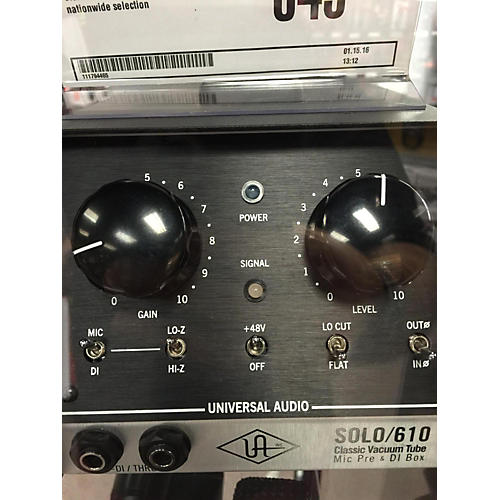 Universal Audio Solo 610 Microphone Preamp-thumbnail