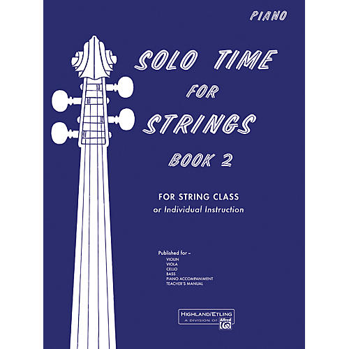 Alfred Solo Time for Strings Book 2 Piano Acc.-thumbnail
