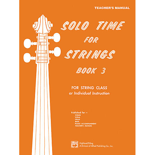 Alfred Solo Time for Strings Book 3 Teacher's Manual-thumbnail