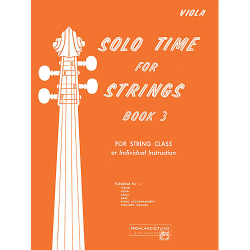 Alfred Solo Time for Strings Book 3 Viola