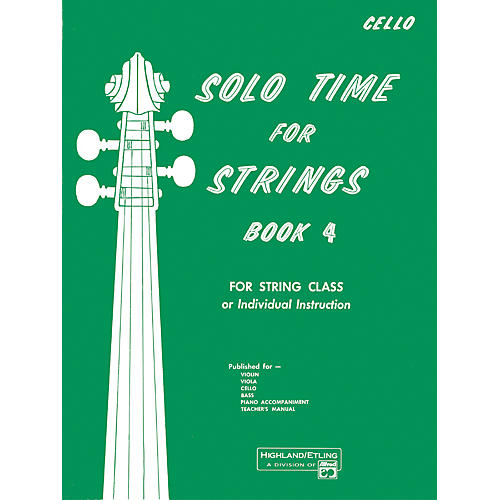Alfred Solo Time for Strings Book 4 Cello-thumbnail