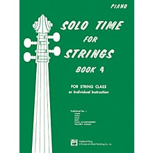 Alfred Solo Time for Strings Book 4 Piano Acc.
