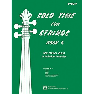 Alfred Solo Time for Strings Book 4 Viola by Alfred