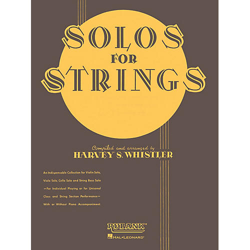 Rubank Publications Solos For Strings - Viola Solo (First Position) Rubank Solo Collection Series by Harvey S. Whistler