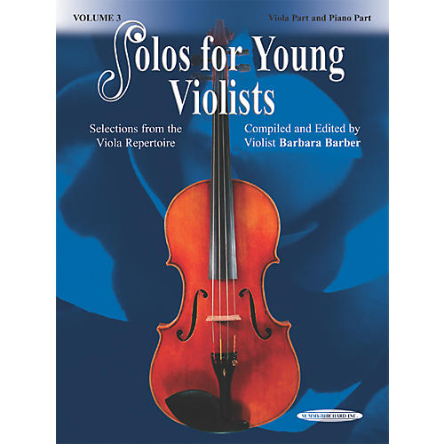 Alfred Solos for Young Violists Vol. 3 (Book)-thumbnail
