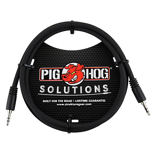Pig Hog Solutions 3.5mm TRS to 3.5mm TRS Adapter Cable-thumbnail