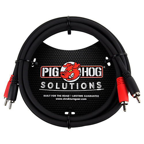 Pig Hog Solutions Dual Cable RCA to RCA (3 ft.) 6 ft.
