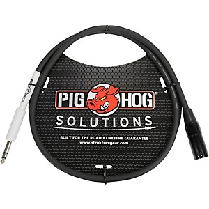 Pig Hog Solutions XLRM to 1/4 inch TRS Adapter Cable 3 ft.