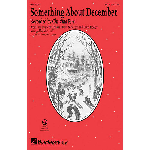 Hal Leonard Something About December SATB by Christina Perri arranged by Mac Huff