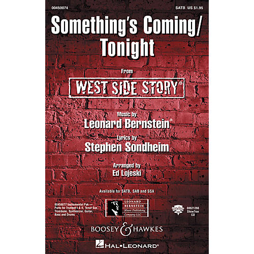 Hal Leonard Something's Coming/Tonight (from West Side Story) SSA Arranged by Ed Lojeski