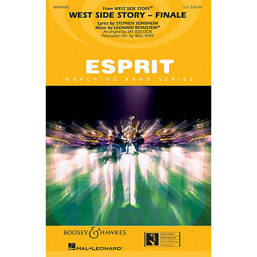 Hal Leonard Somewhere/tonight (from west Side Story) Full Score Marching Band