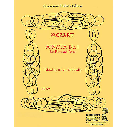 Hal Leonard Sonata No. 1 in Bb (Connoisseur Flutist's Edition) Robert Cavally Editions Series by Robert Cavally