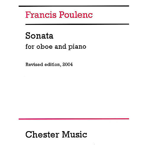 Chester Music Sonata for Oboe and Piano (Revised edition, 2004) Music Sales America Series Book