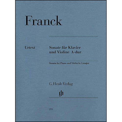 G. Henle Verlag Sonata for Piano And Violin A Major By Franck