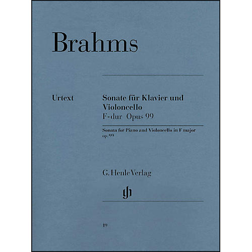 G. Henle Verlag Sonata for Piano And Violoncello In F Major Opus 99 By Brahms-thumbnail