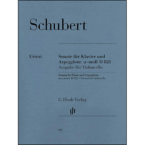 G. Henle Verlag Sonata for Piano and Arpeggione A minor D 821 (Op. Posth. (Version for Violoncello) By Schubert-thumbnail