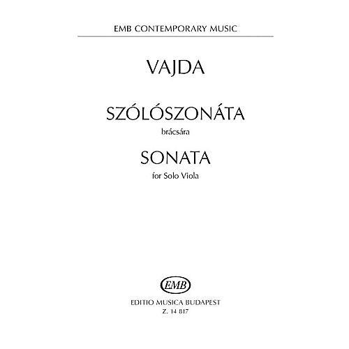 Editio Musica Budapest Sonata for Solo Viola EMB Series Softcover
