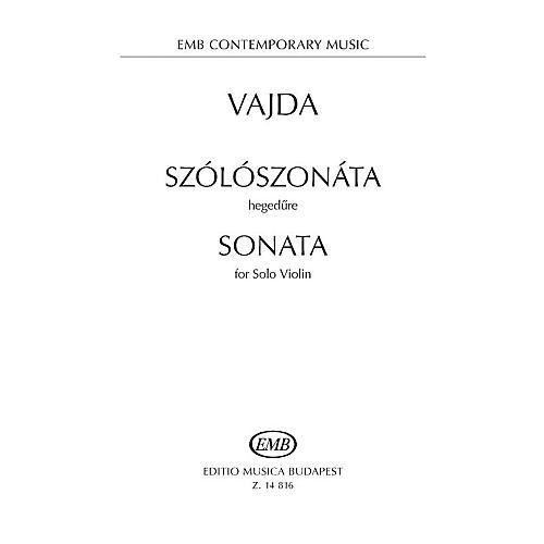 Editio Musica Budapest Sonata for Solo Violin EMB Series Softcover