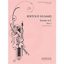 Simrock Sonata in F Major, Op. 2 (Cello and Piano) Boosey & Hawkes Miscellaneous Series