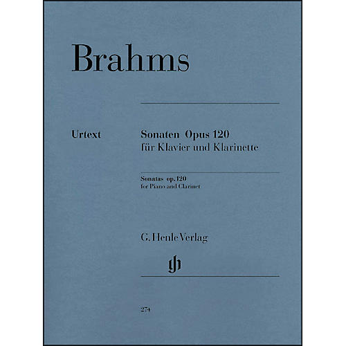 G. Henle Verlag Sonatas for Piano And Clarinet (Or Viola) Op. 120, Nos. 1 And 2 By Brahms