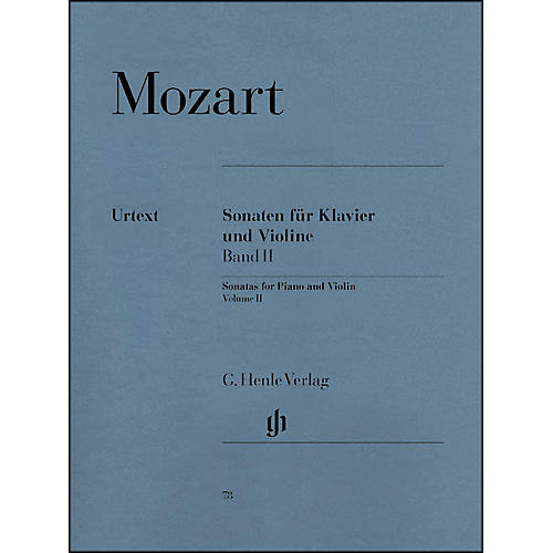 G. Henle Verlag Sonatas for Piano And Violin Volume II By Mozart-thumbnail