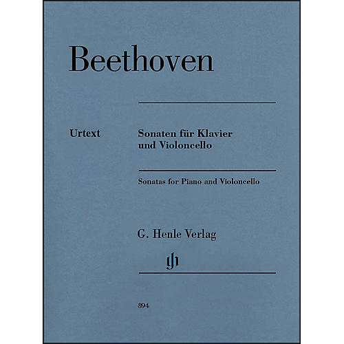G. Henle Verlag Sonatas for Piano And Violoncello By Beethoven