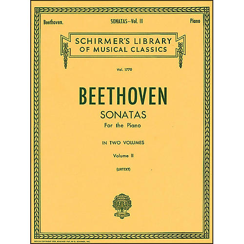 G. Schirmer Sonatas for Piano Volume 2 Urtext By Beethoven-thumbnail
