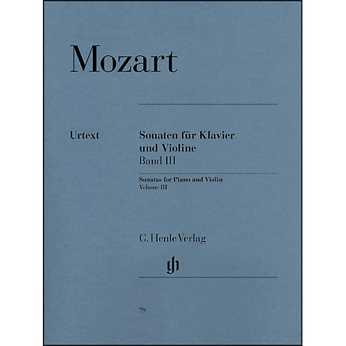 G. Henle Verlag Sonatas for Piano and Violin - Volume III By Mozart-thumbnail